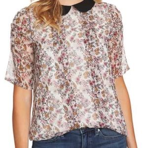 CeCe NWT Floral Blouse - perfect for Spring!